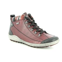 Remonte Boots - Ankle - Wine - R1495-35 ZIGCOLL TEX