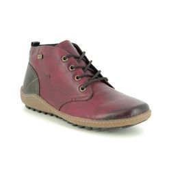 Remonte Boots - Ankle - Wine leather - R4783-35 ZIGSEILA TEX