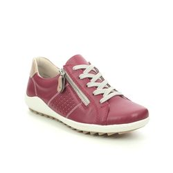 Remonte Comfort Lacing Shoes - Red leather - R1417-33 ZIGZIP 1