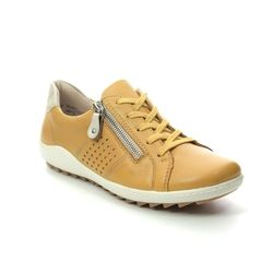 Remonte Comfort Lacing Shoes - Yellow - R1417-68 ZIGZIP 1