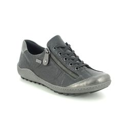 Remonte Comfort Lacing Shoes - Black leather - R1402-01 ZIGZIP 81