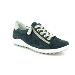 Remonte Comfort Lacing Shoes - Navy - R1402-14 ZIGZIP 81