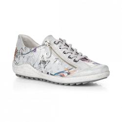 Remonte Comfort Lacing Shoes - Floral print - R1402-90 ZIGZIP 81