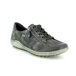 Remonte Comfort Lacing Shoes - Black - R1402-02 ZIGZIP 85