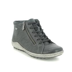 Remonte Lace Up Boots - Black leather - R1470-01 ZIGZIP TEX