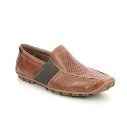 Rieker Slip-on Shoes - Tan - 08965-24 GARRIT