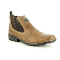 Rieker Chelsea Boots - Brown - 36063-25 DONCAP