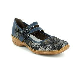 Rieker Everyday Shoes - Navy multi floral or fabric - 41372-90 DORISBAR