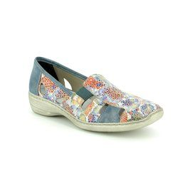 Rieker Comfort Lacing Shoes - Floral print - 41385-92 DORIC 81