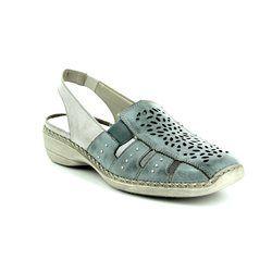 Rieker Comfort Slip On Shoes - Denim blue - 41390-10 DORISLING