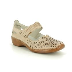 Rieker Mary Jane Shoes - Beige - 413G7-60 DORISBARO