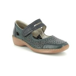 Rieker Mary Jane Shoes - Navy - 413J9-14 DORISBARS