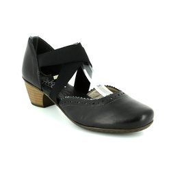 Rieker Court Shoes - Black multi - 41753-00 SARJAM