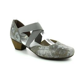 Rieker Court Shoes - Taupe multi - 41753-90 SARJAM