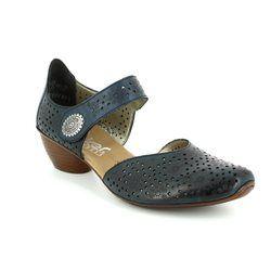 Rieker Comfort Slip On Shoes - Navy - 43711-15 MIROPI