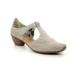 Rieker Comfort Slip On Shoes - Light taupe - 43736-40 MIRNADE
