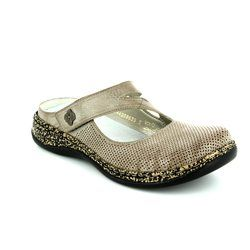 Rieker Slippers & Mules - Light taupe - 46302-42 LINOPERF