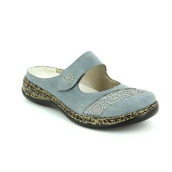 Rieker Slippers & Mules - Denim blue - 46303-12 LINO   71