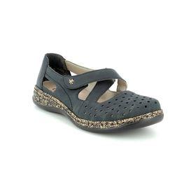 Rieker Comfort Slip On Shoes - Navy - 46345-14 DAISBAX