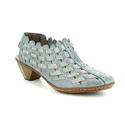 Rieker Court Shoes - Blue multi - 46778-13 SINA