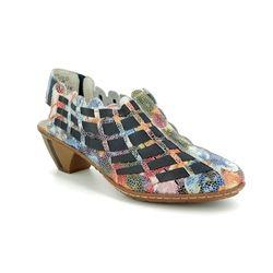 Rieker Comfort Slip On Shoes - Floral print - 46778-91 SINA