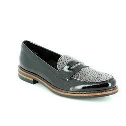 Rieker Loafer / Moccasin - Black multi patent - 50662-01 GRIFFIN