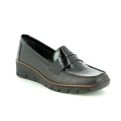 Rieker Comfort Shoes - Black - 53732-00 BOCCILOAF