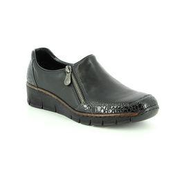 Rieker Comfort Shoes - Black - 53734-45 BOCCIZ