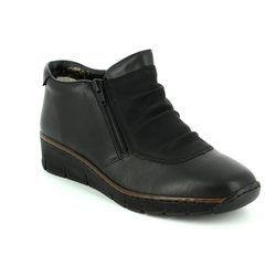 Rieker Boots - Ankle - Black - 53742-00 BOCCITWIN