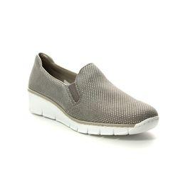 Rieker Comfort Slip On Shoes - Light taupe - 53766-41 BOCCIAGO