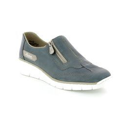 Rieker Comfort Shoes - Blue - 53773-12 BOCCIZIP