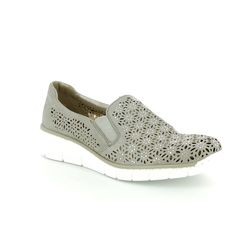 Rieker Comfort Shoes - Light taupe - 537L7-40 BOCCIADI