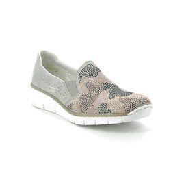 Rieker Comfort Slip On Shoes - Metallic - 537T1-40 BOCCISTA