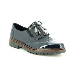 Rieker Brogues - Navy patent - 54872-14 PORT