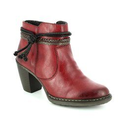 Rieker Boots - Ankle - Wine - 55298-35 SALANOT