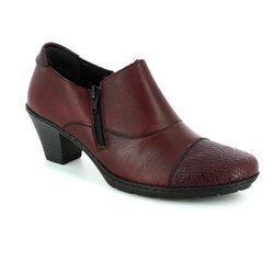 Rieker Heeled Shoes - Wine - 57173-35 ADDICAP
