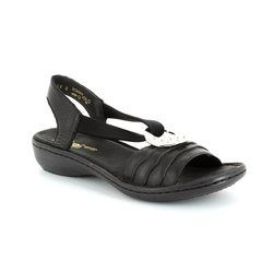 Rieker Sandals - Black - 60823-01 REGINELDI