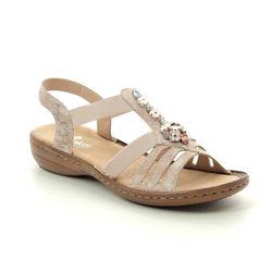 Rieker Comfortable Sandals - Rose - 60855-31 REGINAMO