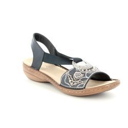 Rieker Sandals - Navy - 608B9-12 REGINELDA