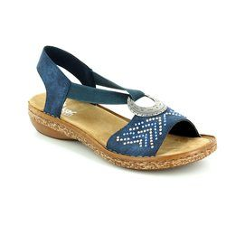 Rieker Sandals - Blue multi - 62802-14 REGINEVA