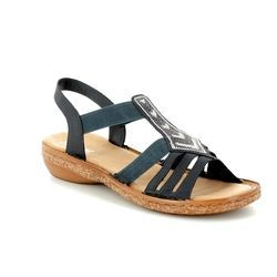 Rieker Sandals - Navy - 62821-14 REGIVES