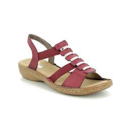 Rieker Comfortable Sandals - Red - 62850-35 REGING