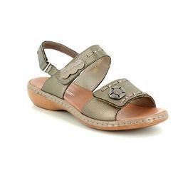 Rieker Sandals - Pewter - 65972-90 TITANS