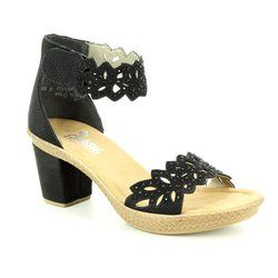 Rieker Sandals - Black - 66555-01 ROBANKA
