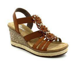 Rieker Sandals - Tan - 67510-24 FAWNESS