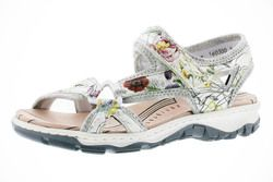 Rieker Walking Sandals - Floral print - 68879-90 BARRIER