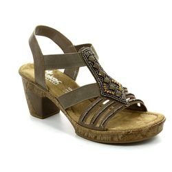 Rieker Sandals - Light taupe - 69713-64 ROBJEWEL