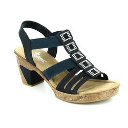 Rieker Sandals - Navy - 69761-14 ROBSQUARE