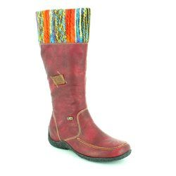 Rieker Boots - Knee High - Wine multi - 79950-35 ASTRIPON TEX