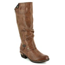 Rieker Boots - Long - Brown - 93655-26 BERNALO TEX